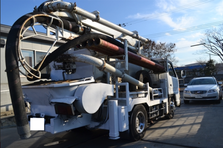 1992 isuzu concrete pump truck sale in japan