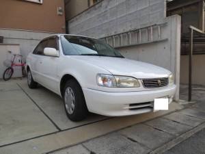 1999 toyota corolla sedan ae110 72k sale japan