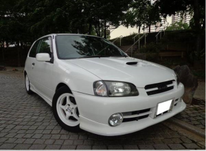 1997 toyota starlet glanza v ep91 turbo for sale in japan 1.3 143k