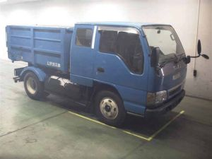 2002 isuzu elf lpg nkr81 nkr 81 liquefied petroleum gas tipper dump truck for sale in japan 130k