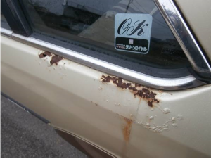 Car goes streight. You fix rust in yourcontry