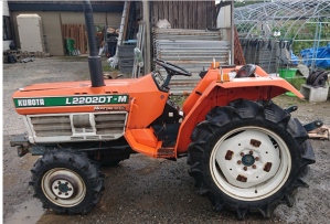 kubota L2201dt farm tractor with rotary for sale in japan