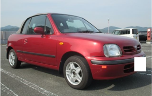 1997 nissn march micra fhk11 convertible for sale in japan 91k