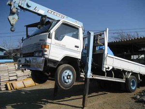 1989 toyota dyna bu95 crane boom truck for sale japan 49k