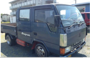 1990 mitsubishi canter double cabin cab fe301b for sale japan 3.3 diesel 226k