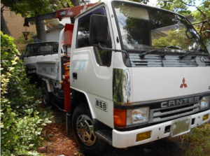 1991 mitsubishi fuso canter crane truck with for sale japan fe317b fe 317 34k