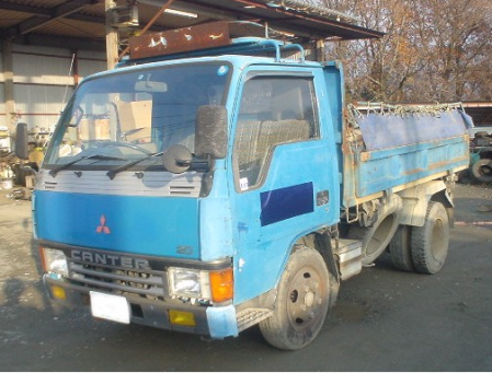 1992 mitsubishi canter dump truck tipper FE315bd 4d32 used japanese for sale japan 94k