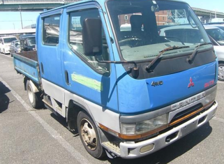 1999 mitsubishi fuso canter guts fd501 fd501b 2.8 diesel manual double cab cabin truck trucks for sale in japan 220k