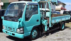 4HL1 nkr 81 crane boom truck for sale