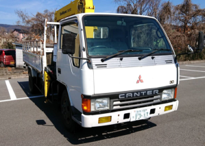 mitsubishi fuso canter fe337 crane truck for sale in japan