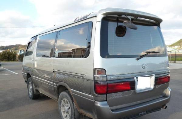 1996 toyota hiace awagon super custom ltd kzh106w 3.0 diesel for sale japan 230k-1