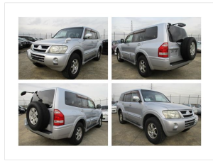 2003 mitsubishi pajero V75w 3500 gasoline exceed 2 for sale in japan