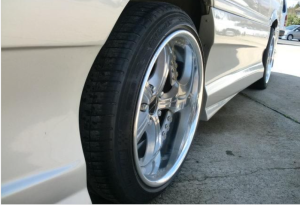 low down. Coil overs+,Muffler+. Idling--stable--good.