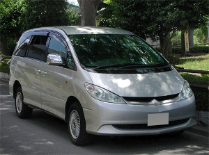 2002 toyota estima hybrid ahr10w sale japan 100k
