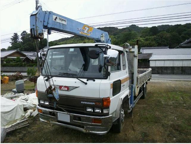 1990 hino mitsubishi fuso fighter crane boom truck for ...