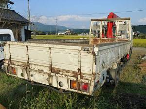 1990 mitsubishi fuso fighter crane boom truck for sale in japan 61k-1