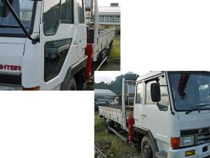 1990 mitsubishi fuso fighter crane boom truck for sale in japan 61k-2