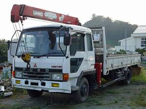 1990 mitsubishi fuso fighter crane boom truck for sale in japan 61k