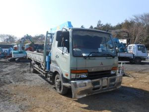 1994 mitsubishi fuso fighter crane truck 4 ton sale japan model fk617