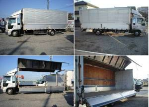 2001 hino ranger fd1j 800k wing body truck full open van open type box for sale japan-1