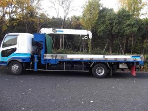 2003 mitsubishi fighter fuso crane truck for sale in japan fk64 6m61 8.2.-1