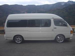 1995 toyota hiace super long wheelbase van for sale japan 170k diesel LH123-1
