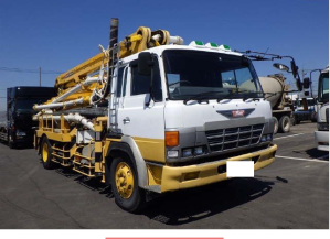 1992 hino concrete pump truck for sale in japan