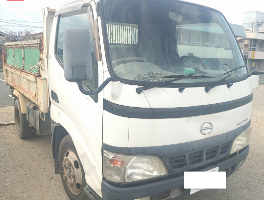 2002 hino dutro dump tipper truck trucks xzu 321 xzu321t xzu321 4.9 diesel pb-xzu321 for sale in japan 195k-1