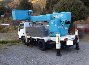 1991 mitsubishi canter used cherry picker truck fe317b 4.2 diesel sale japan 110-1