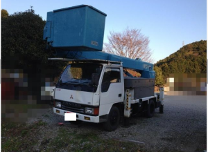 1991 mitsubishi canter used cherry picker truck fe317b 4.2 diesel sale japan 110-2