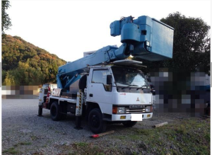 1991 mitsubishi canter used cherry picker truck fe317b 4.2 diesel sale japan 110k