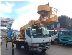 1999 mitsubishi fuso canter cherry picker truck fe53eb for sale japan 44k-1