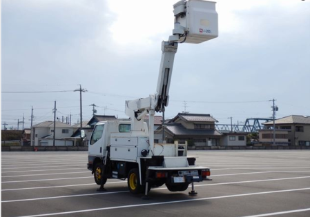 2001 mitsubishi fuso used cherry picker 5.2 diesel manual fe 55 ee for sale in japan 140k-3