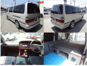 2002 toyota hiace diesel 3.0 camper campervan conversion for sale in japan kzh110g 180k-1