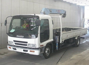 isuzu forward frr35 crane boom truck japan