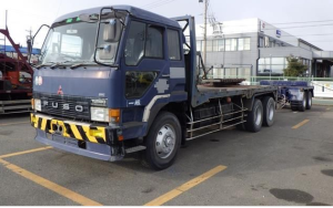 1989 mitsubishi fuso truck trucks super great P-FV419P fv419 trailer poll for sale in japan fv 419