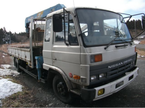 1990 Nissan diesel UD condor crane boom trucks for sale in japan